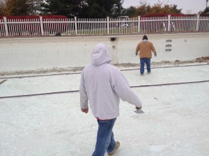 installation of pool coping