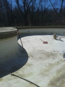 pool plaster prep