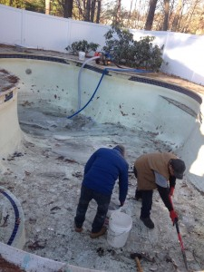 Gunite pool, pool renovation, pool remodeling,