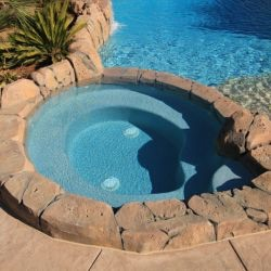 Pebble plaster pool