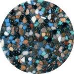 Midnight blue pebble plaster