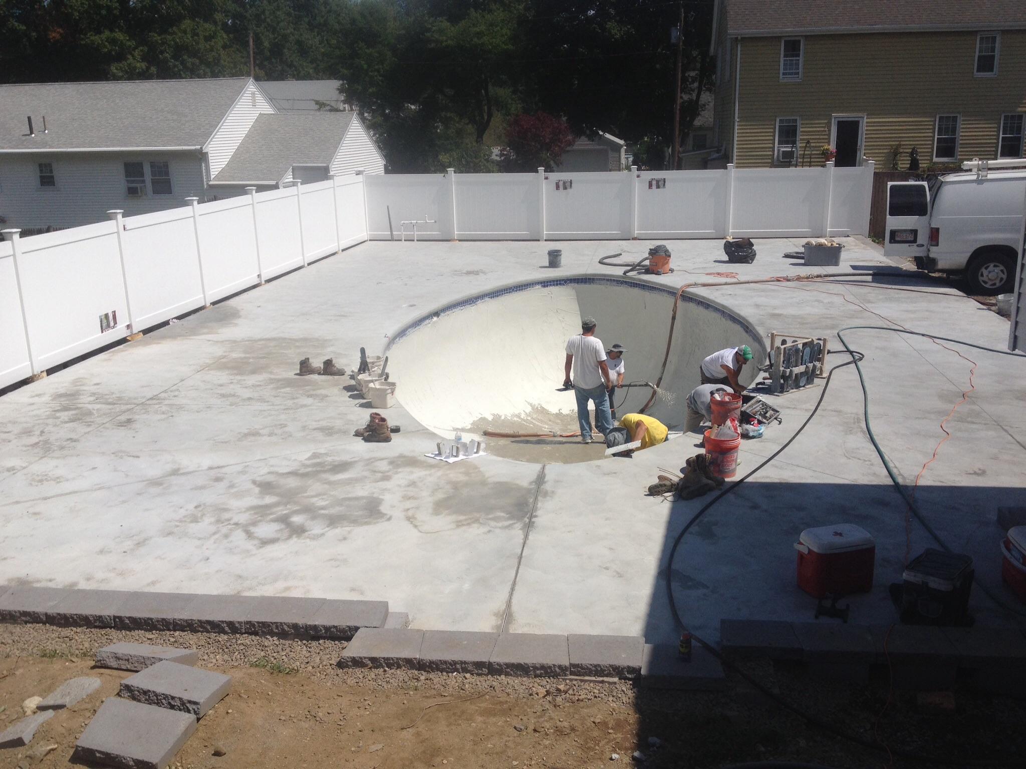 Resurfacing pools